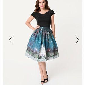 NWT unique vintage Disney castle skirt